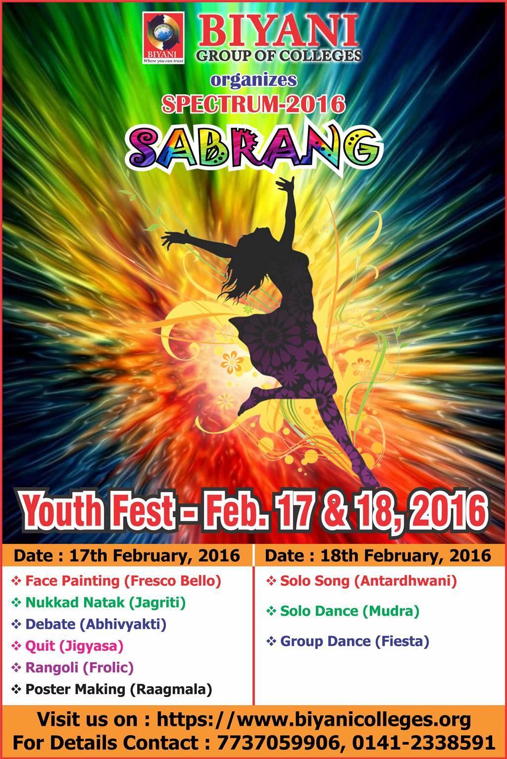 SABRANG Youth Fest Spectrum 2016
