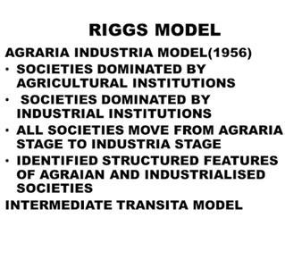 riggsian model