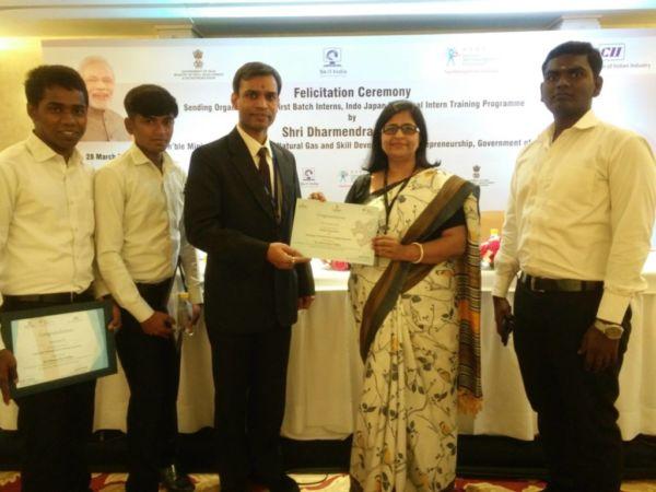 Felicitation by Skill Development Ministry